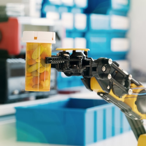 Our Robot Picks your Medication and we (humans) check them